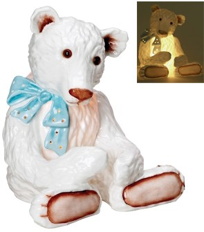 Retired Bears and Animals - TEDDY BEAR NIGHT LIGHT BLUE