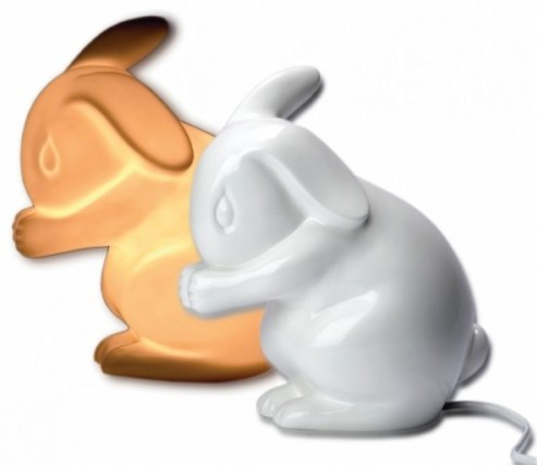 Retired Bears and Animals - WHITE RABBIT NIGHT LIGHT
