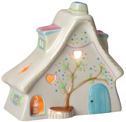 Retired Bears and Animals - BUNNY COTTAGE NIGHT LIGHT