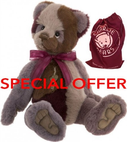 Charlie Bears In Stock Now - MEDLEY *REDUCED & FREE BAG*