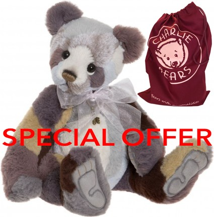 Charlie Bears In Stock Now - RAGGLE *REDUCED & FREE BAG*