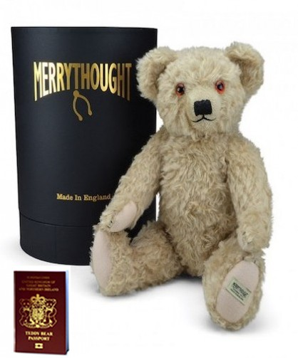 Retired Merrythought - MERRYTHOUGHT ROYAL MAIL STAMP BEAR REPLICA 18""